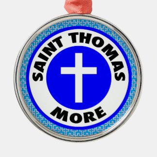 Ornement Rond Argenté Saint Thomas davantage