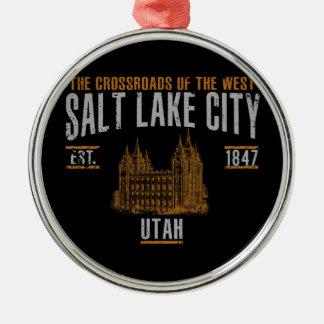 Ornement Rond Argenté Salt Lake City