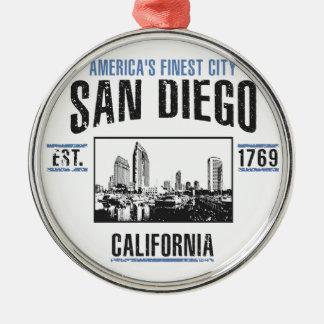 Ornement Rond Argenté San Diego