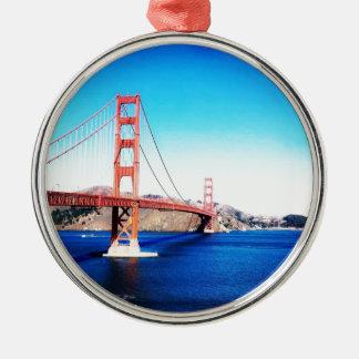 Ornement Rond Argenté San Francisco golden gate bridge la Californie