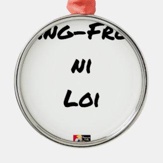 Ornement Rond Argenté SANG-FROID NI LOI - Jeux de mots - Francois Ville