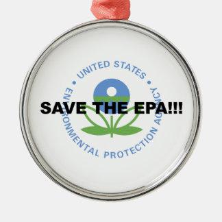 Ornement Rond Argenté Sauvez l'EPA