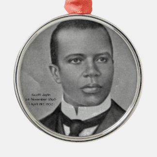 Ornement Rond Argenté Scott Joplin