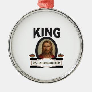 Ornement Rond Argenté seigneur de gentillesse de roi