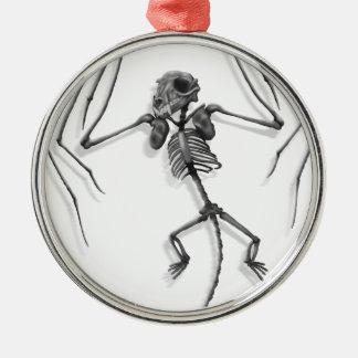 Ornement Rond Argenté Squelette de batte