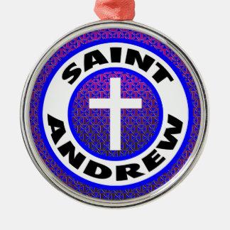 Ornement Rond Argenté St Andrew