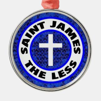 Ornement Rond Argenté St James moins