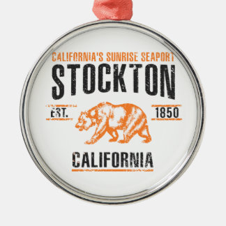Ornement Rond Argenté Stockton