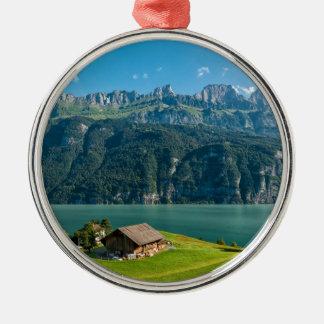 Ornement Rond Argenté Suisse