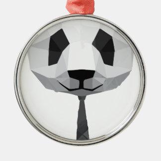 Ornement Rond Argenté T-shirt de panda de bureau