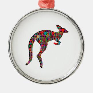 Ornement Rond Argenté Tailles de kangourou