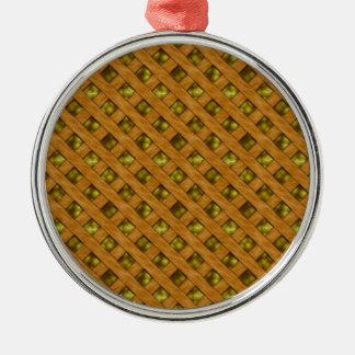 Ornement Rond Argenté Tarte de citron