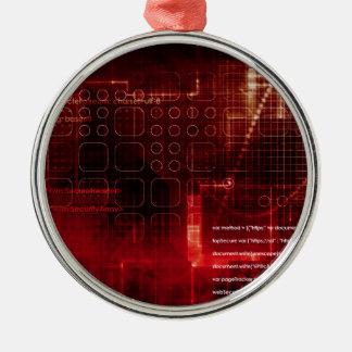 Ornement Rond Argenté Technologie disruptive du corps humain et de