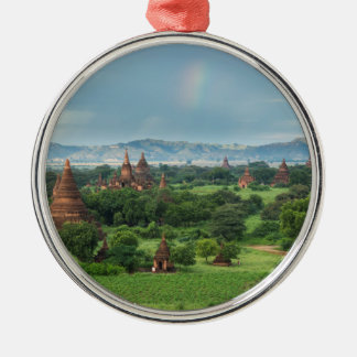 Ornement Rond Argenté Temples dans Bagan, Myanmar