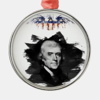 Ornement Rond Argenté Thomas Jefferson