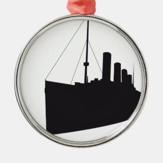 Ornement Rond Argenté titanic ombre