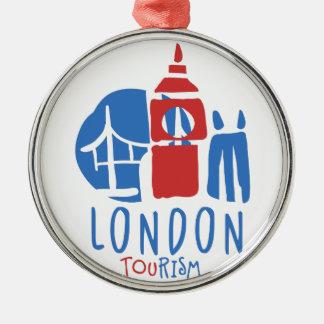 Ornement Rond Argenté Tourisme de Londres
