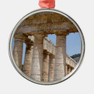 Ornement Rond Argenté travaux massifs de Grec