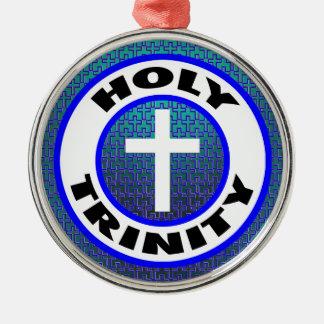 Ornement Rond Argenté Trinité sainte