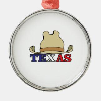Ornement Rond Argenté type le Texas