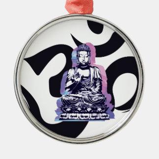 Ornement Rond Argenté vague 3 de Bouddha
