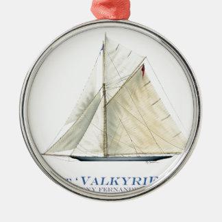 Ornement Rond Argenté Valkyrie 1895