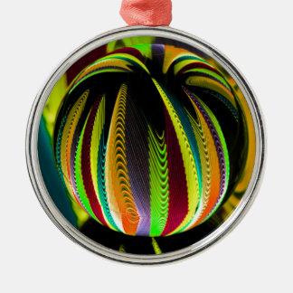 Ornement Rond Argenté Variation ColoursI de boule