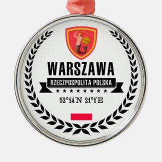 Ornement Rond Argenté Varsovie
