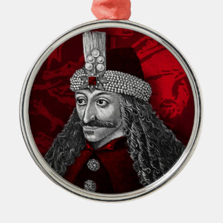 Ornement Rond Argenté Vlad Dracula gothique