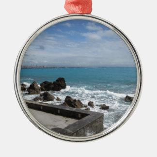 Ornement Rond Argenté Vue panoramique de côte de Castiglioncello en