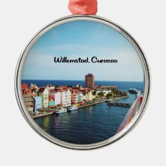 Ornement Rond Argenté Willemstad Curaçao