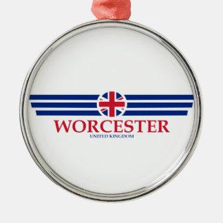 Ornement Rond Argenté Worcester
