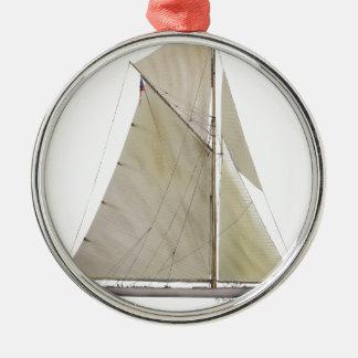 Ornement Rond Argenté yacht 1920 résolu