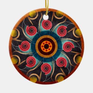 Ornement rond couleur d'abrégé sur d'art floral de