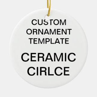 Ornement rond d'arbre de Noël de porcelaine faite
