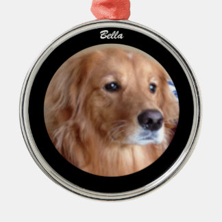 Ornement rond de golden retriever de Bella,