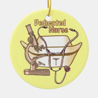 Ornement rond d'infirmière consacrée