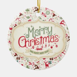 Ornement rond du Joyeux Noël 2017