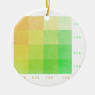 Ornement Rond En Céramique 100% (vert et ocre)