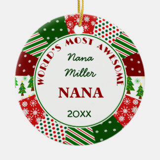 Ornement Rond En Céramique 2017 NANA la plus impressionnante ou tout nom de