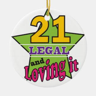 Ornement Rond En Céramique 21 juridique et l'aimant