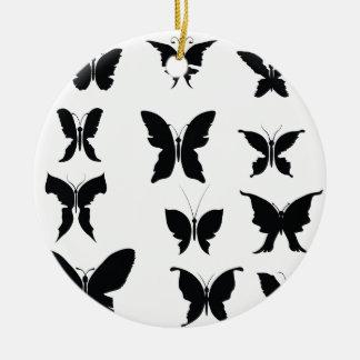 Ornement Rond En Céramique 51Butterflies