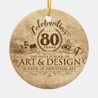 Ornement Rond En Céramique 80 ans d'ornement de SIA et d'A&D