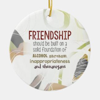 Ornement Rond En Céramique 810.friendship-shenanigans