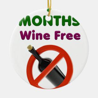 Ornement Rond En Céramique 9 mois de vin libèrent, maman enceinte, cadeau de
