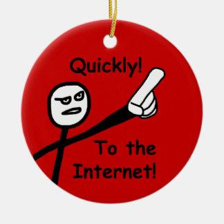 Ornement Rond En Céramique À l'Internet 2