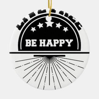 Ornement Rond En Céramique Abeille libre vivante heureuse
