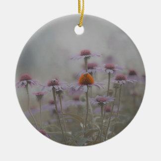 Ornement Rond En Céramique Abeilles et les fleurs de cône