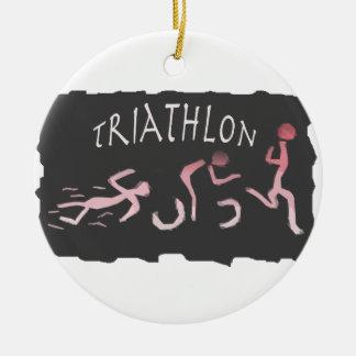 Ornement Rond En Céramique Abrégé sur course de vélo de bain de triathlon