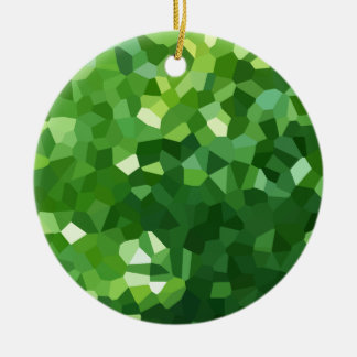 Ornement Rond En Céramique Abrégé sur vert mosaïque en verre souillé de forme